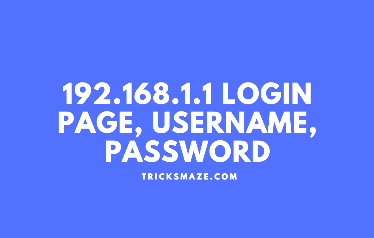 192.168.1.1 Login Page