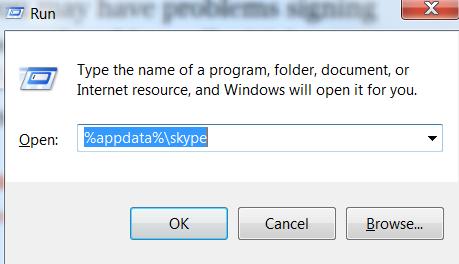 Deleting Skype data