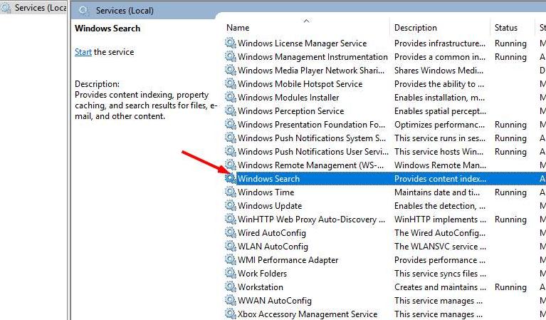 Windows Search Process