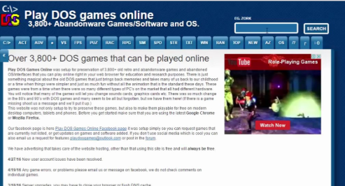 Play Dos Game Online