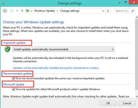 Reconfigure Windows Update Settings