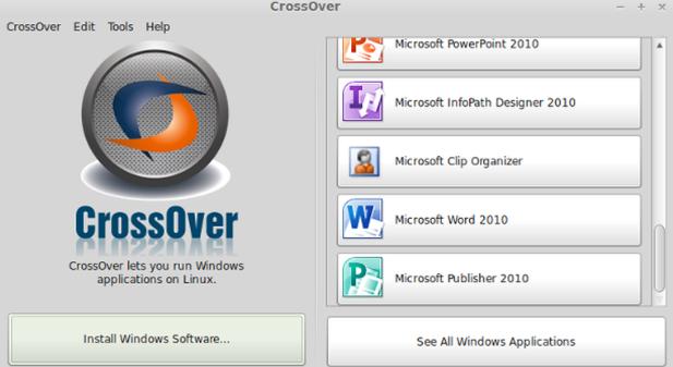 Windows Emulator CrossOver