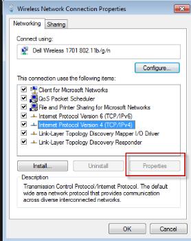 Version 4 (TCP IPv4) Properties