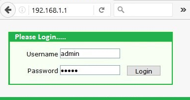 Router Login password
