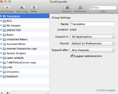 TextExpander Mac