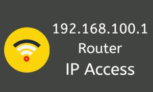 192.168.100.1 IP Login