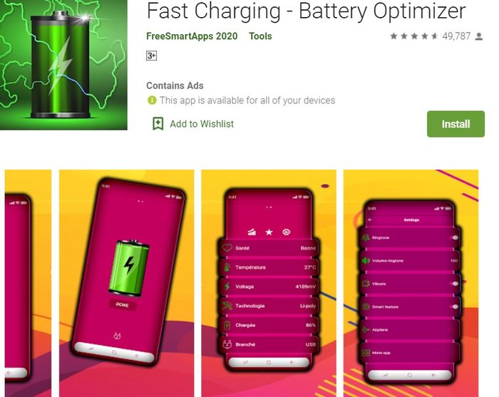 Fast charger – Fast charging, Battery Optimizer